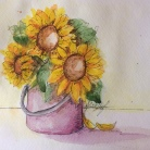 Flowers in a Bucket